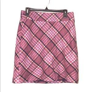 Talbots Women's Wool Plaid Skirt